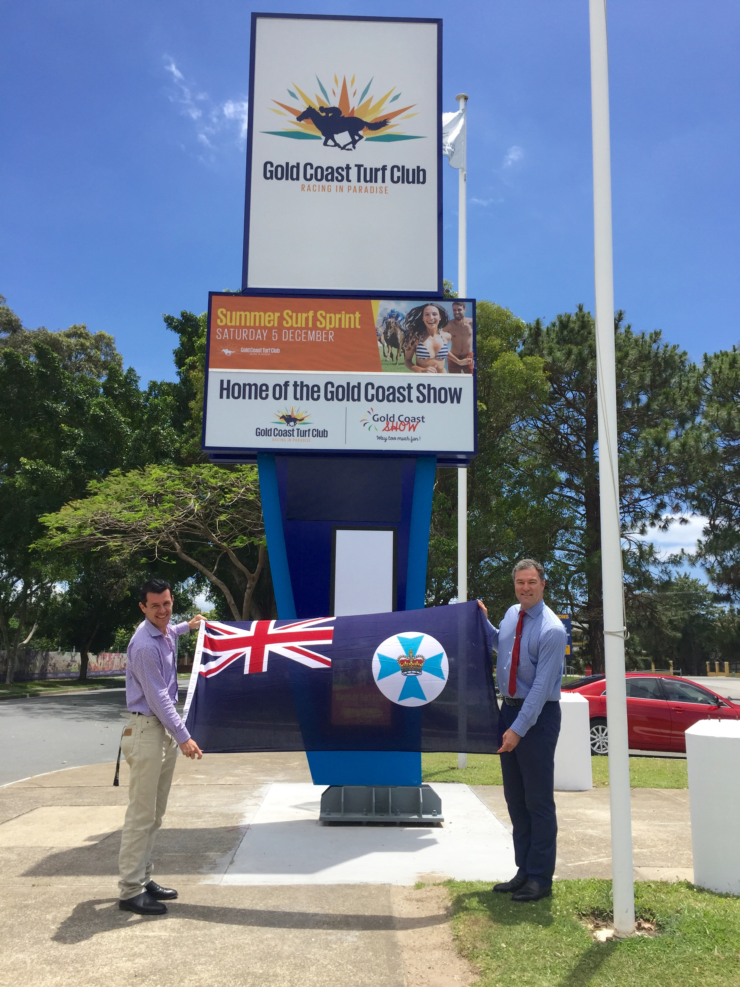Queensland Flag Presentation at the Gold Coast Turf Club