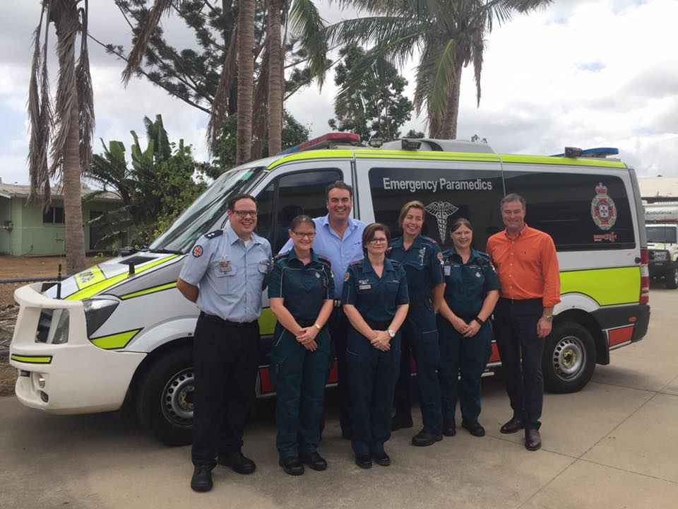 Visiting hard-working health professionals and emergency service workers