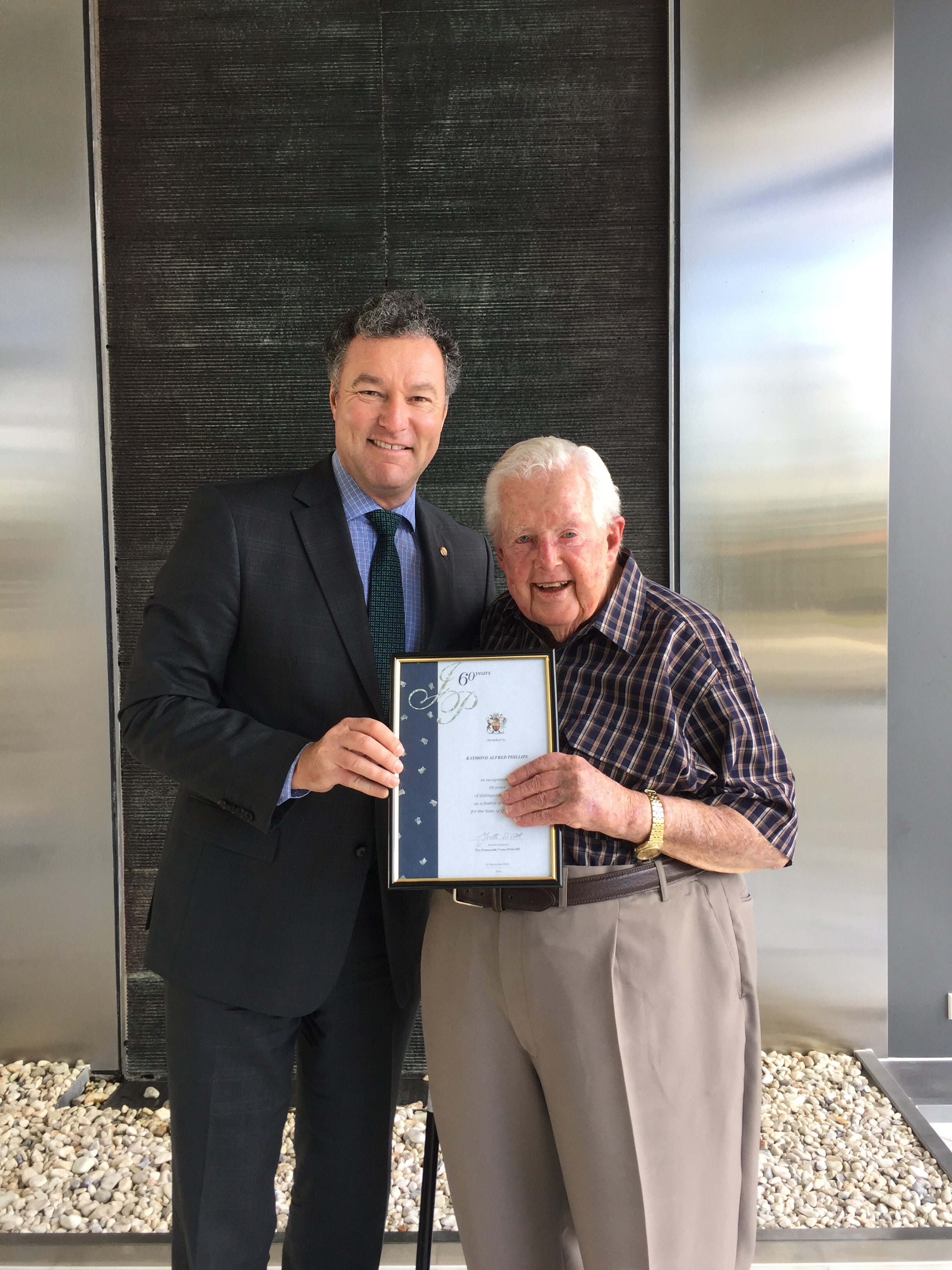 Congratulations to Ray who has served as a Justice of the Peace for over 60 years!