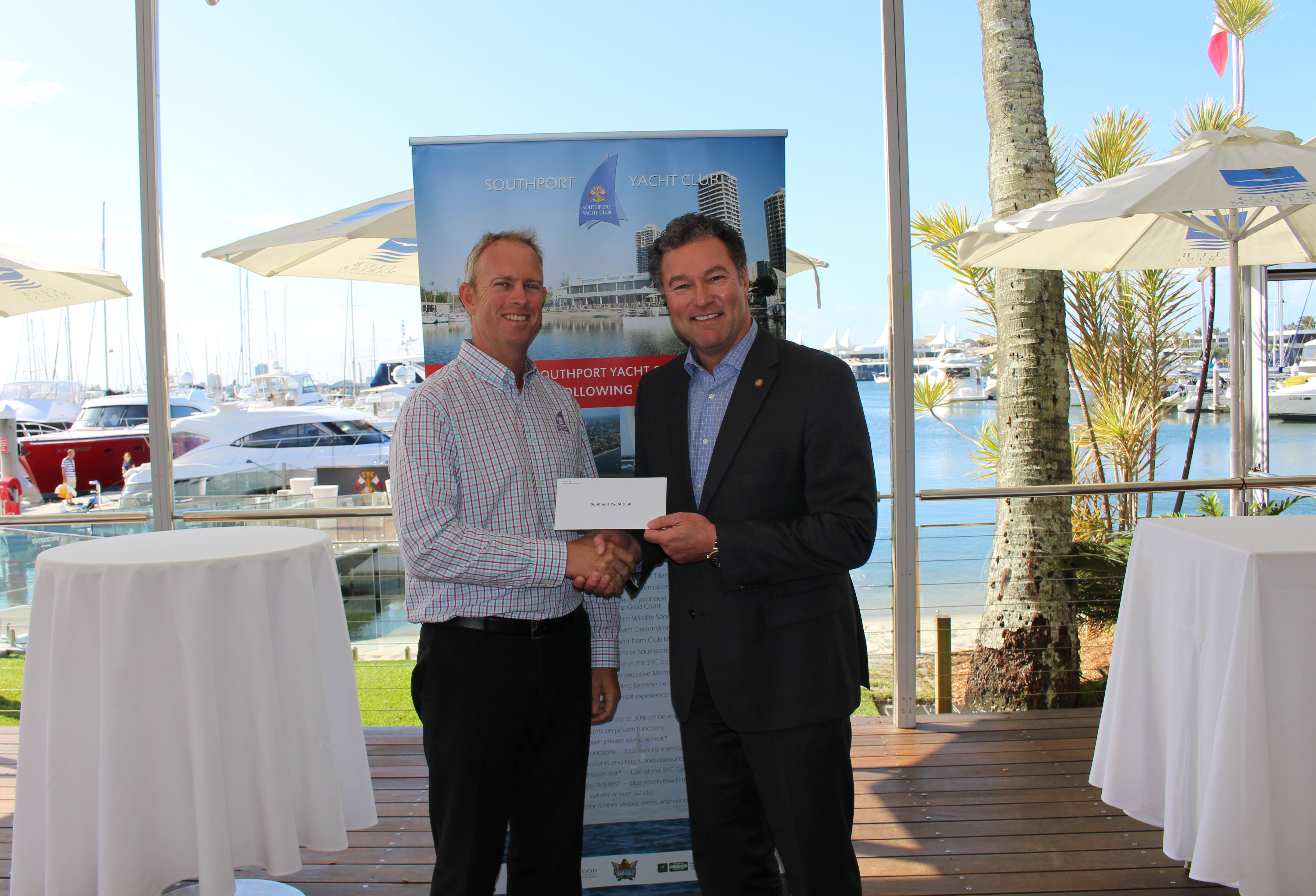 Donating $1000 to support the Southport Yacht Club's Annual Carols on the Broadwater