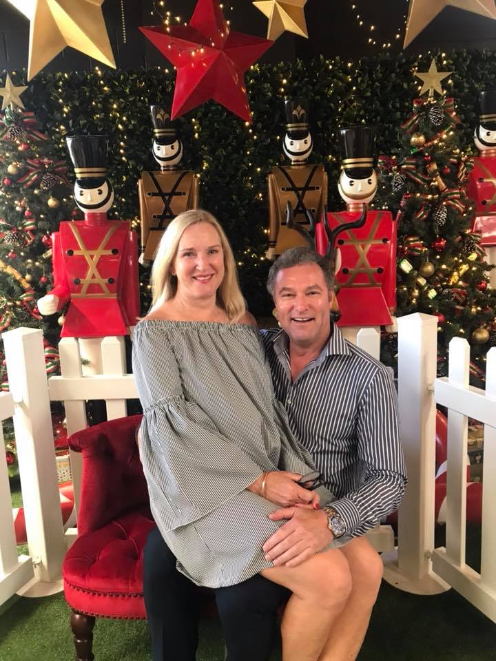 getting into the christmas spirit with my wife stacey
