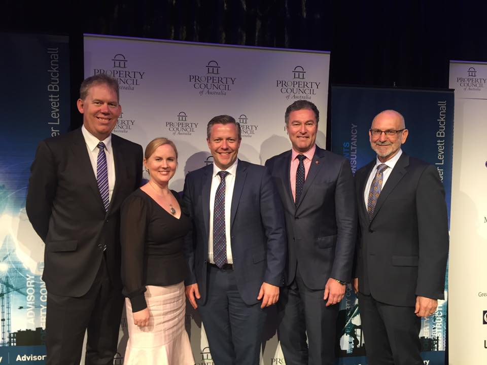 Talking all things Gold Coast at the Property Council of Australia's luncheon