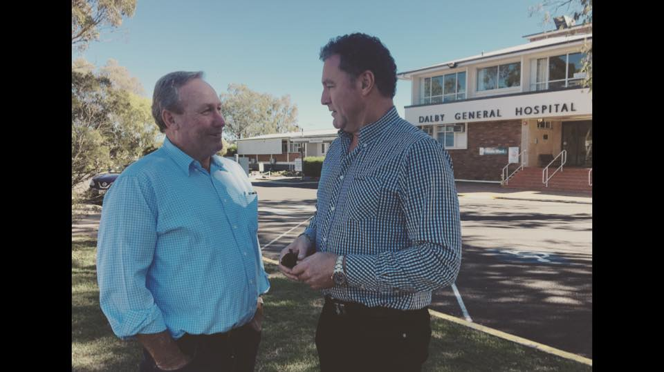 With Western Downs Regional Council Mayor Paul McVeigh at Dalby General Hospital